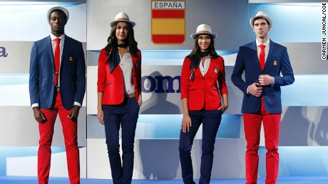 Spain has opted to abandoned heavy yellow accents for red and blue.