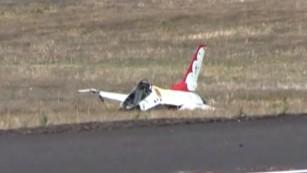 F-16 Thunderbird crashes; pilot taken to hospital