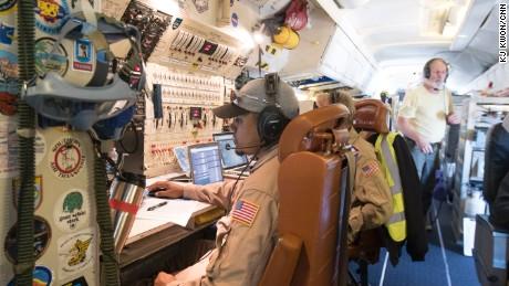 On board NASA's flying lab DC-8