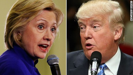 Image result for image of hillary and trump