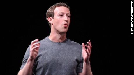 Mark Zuckerberg speaks at a press conference on February 21, 2016 presenting Samsung's new Galaxy 7 mobile device.