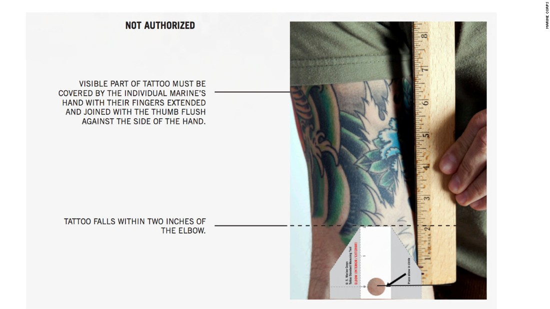Marines ink new tattoo rules for Marine corp tattoo policy