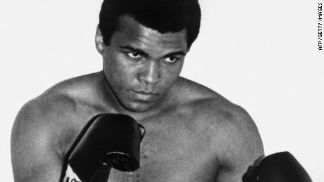 PARIS - JANUARY 1:  A portrait of then World boxing heavyweight champion Muhammad Ali in 1960 in Paris, France.  (Photo by AFP/Getty Images)