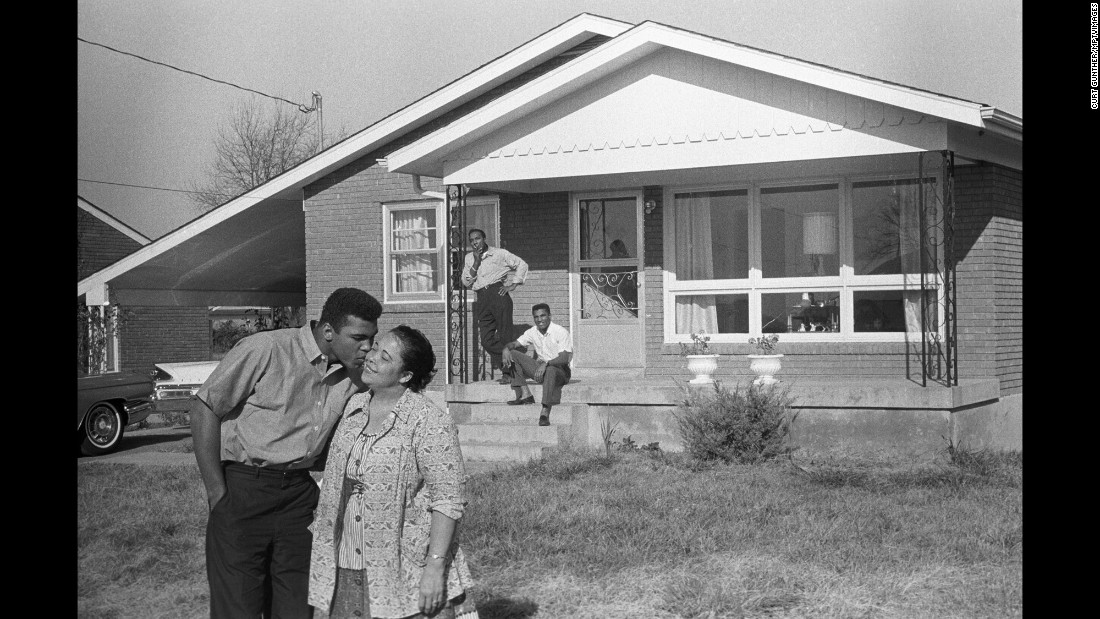 Muhammad Ali, whose birth name was Cassius Clay, kisses his mother ...