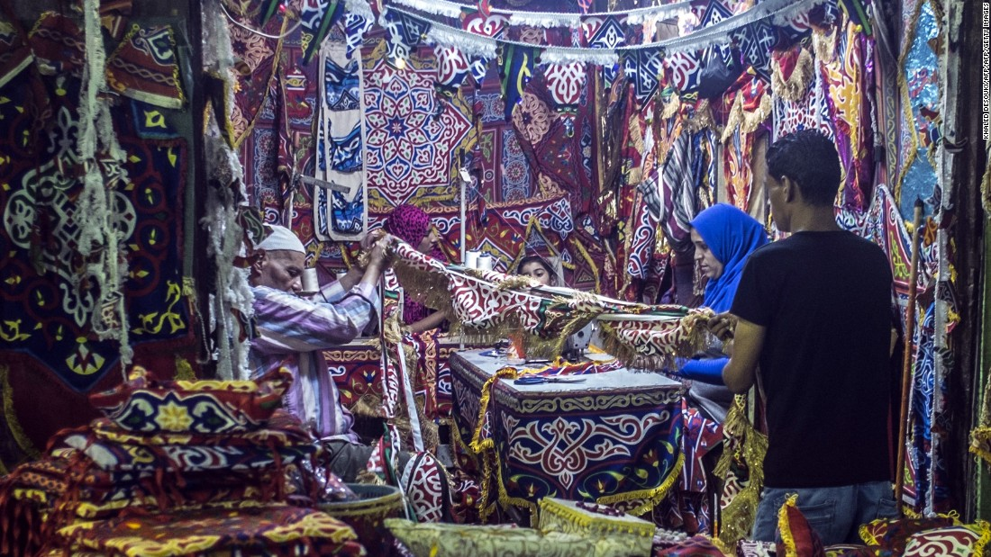 A man in Cairo shops for traditional Ramadan decorations on Thursday, June 2.