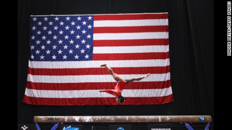 Simone Biles has won 14 world medals (10 gold, two silver, two bronze), the most for a U.S. female gymnast.