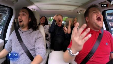 James Corden Does Broadway Carpool Karaoke, Raps With Lin-Manuel Miranda