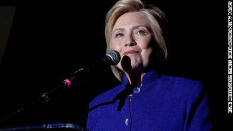 """LOS ANGELES, CA - JUNE 06:  Democratic presidential candidate Hillary Clinton speaks onstage during the """"Hillary Clinton: She's With Us"""" concert at The Greek Theatre on June 6, 2016 in Los Angeles, California.  (Photo by Kevin Winter/Getty Images)"""