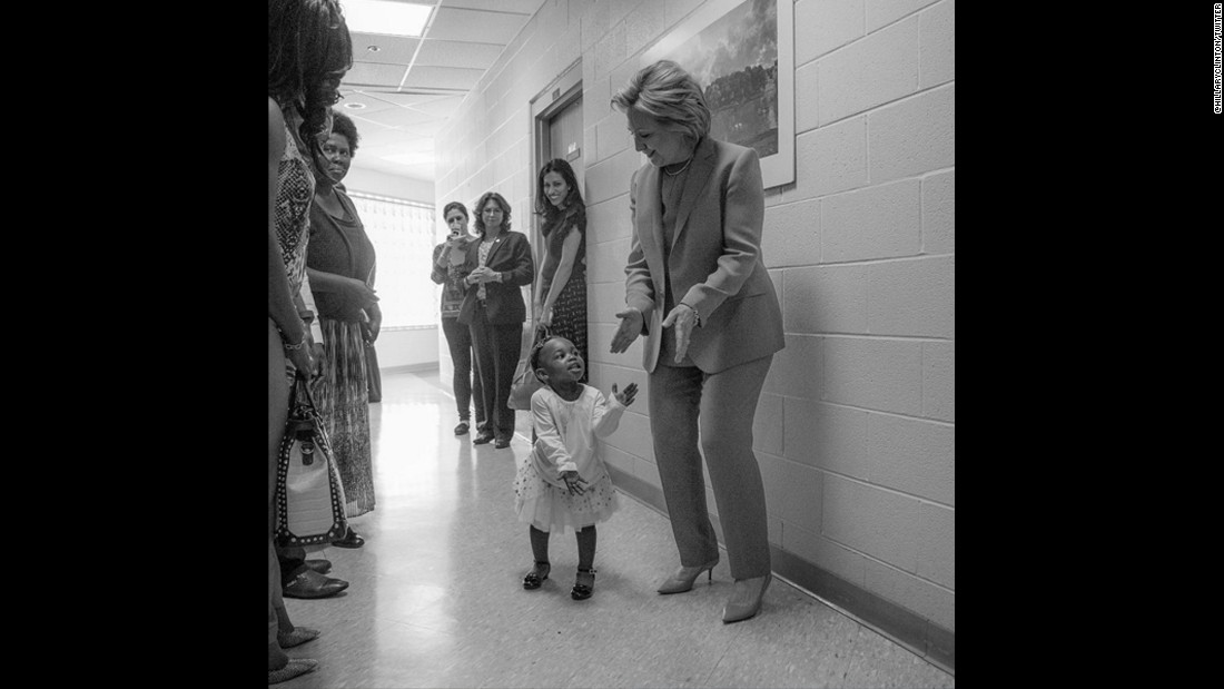 "After Clinton became the Democratic Party's presumptive nominee, this photo was posted to her official Twitter account. ""To every little girl who dreams big: Yes, you can be anything you want -- even president,"" Clinton said. ""Tonight is for you."""