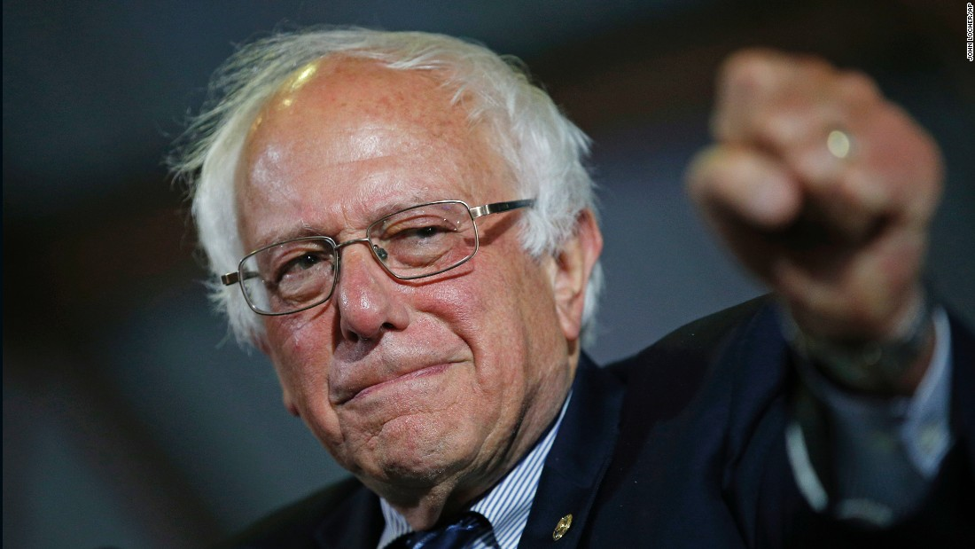 Sanders speaks at a rally in Santa Monica, California, on June 7. He pledged to stay in the Democratic race even though Hillary Clinton secured the delegates she needed to become the presumptive nominee.