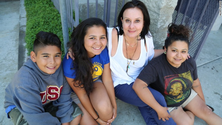 CNN Hero Georgie Smith helps young people like Marcy (right) and her siblings after foster care runs out