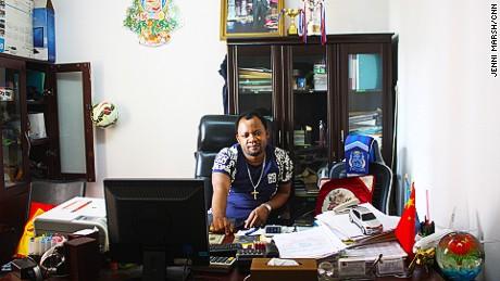 Felly Mwamba, head of the Congolese community in Guangzhou