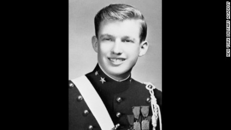 Donald Trump in the New York Military Academy yearbook.
