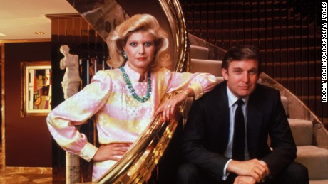 Donald and Ivana Trump in their home in Trump Tower.