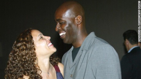 "Actor Michael Jace (R) and April Jace attend the third season premiere screening of ""The Shield"" at the Zanuck Theater on March 8, 2004 in Los Angeles, California. The series ""The Shield"" will premiere on the FX Network on March 9, 2004."