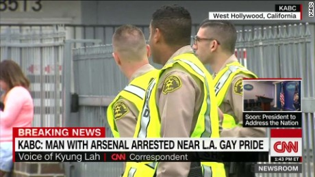 west hollywood suspect arsenal gay pride festival la california lah bpr nr_00010406