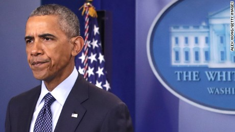 President Barack Obama makes a statement regarding the Orlando mass shooting on June 12, 2016 in Washington, DC.