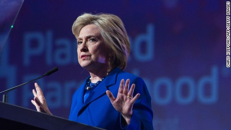 US Democratic presidential candidate Hillary Clinton addresses the Planned Parenthood Action Fund in Washington, DC, on June 10, 2016.