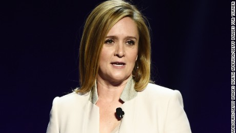 NEW YORK, NEW YORK - APRIL 19:  Comedian Samantha Bee appears on stage during the Turner Upfront 2016 show at The Theater at Madison Square Garden on May 18, 2016 in New York City.  (Photo by Dimitrios Kambouris/Getty Images for Turner)