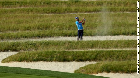 OAKMONT, PA - JUNE 14:  Rafa Cabrera Bello of Spain plays a shot from the Church Pews bunker on the third hole during a practice round prior to the U.S. Open at Oakmont Country Club on June 14, 2016 in Oakmont, Pennsylvania.  (Photo by Andrew Redington/Getty Images)
