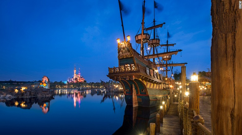 Shanghai Disneyland's pirate-themed Treasure Cove.