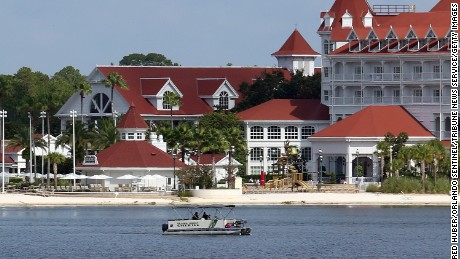 Orange County Sheriff's Marine Unit search for a young boy Wednesday, June 15, 2016 after the boy was grabbed Tuesday night by an alligator at Grand Floridian Resort at Disney World near Lake Buena Vista, Florida.