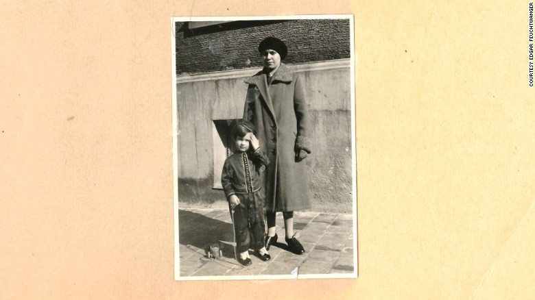 Feuchtwanger first encountered Hitler on a walk with his nanny. Here the boy is on an outing with her.