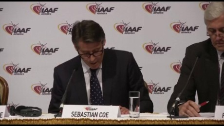 IAAF statement ban on russia track team sot_00000000.jpg