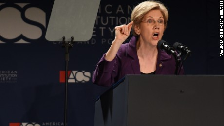 Sen. Elizabeth Warren (D-Mass.) addresses the American Constitution Society 2016 National Convention on June 9, 2016 in Washington, DC.