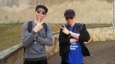 Flash and Risky, of albino rap duo White African Music.
