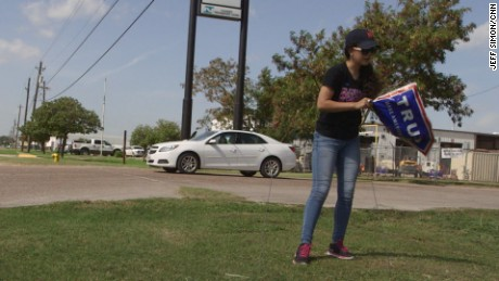 Miriam Cepada, a young Latina living near the U.S.-Mexico border, spends her days rallying support for Donald Trump.