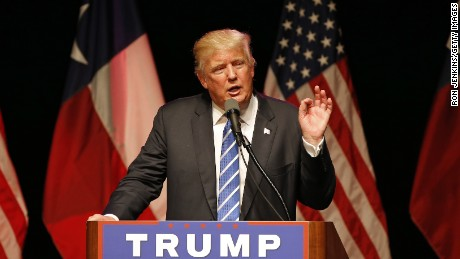 Republican presidential candidate Donald Trump speaks to supporters on June 16, 2016 at Gilley's in Dallas, Texas.