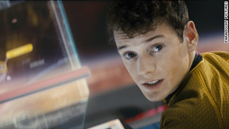 "Anton Yelchin as Ckekov in ""Star Trek."""