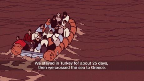 children unaccompanied refugees Greece syria journey animation_00002503