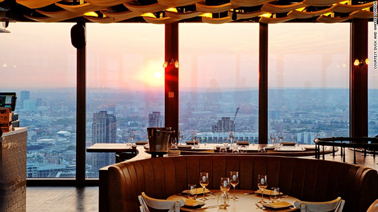 Duck and Waffle has an all-day menu to go with its 24-hour, 230-meter views.