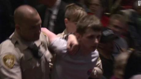 donald trump rally man threatened harm gun police officer acosta lv _00001519.jpg