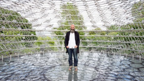 'The Hive': Modern art controlled by bees