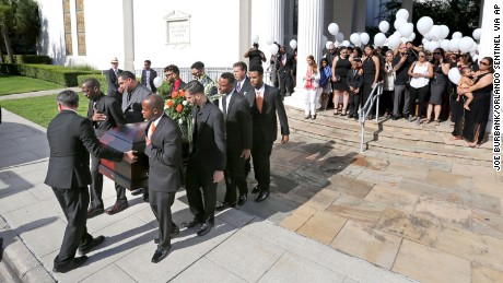Pallbearers carry the casket of Brenda Lee Marquez-McCool in Orlando after her funeral service on June 20.