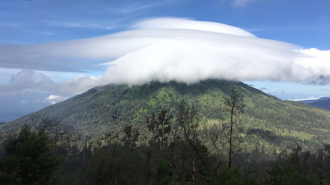A view of Mount Meranti, which neighbors Ijen volcano in East Java, Indonesia.
