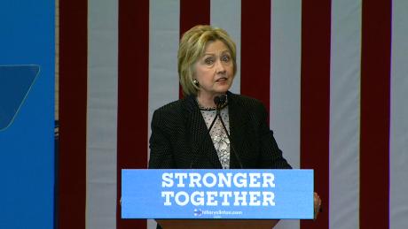 Hillary Clinton in Columbus, Ohio on June 21, 2016