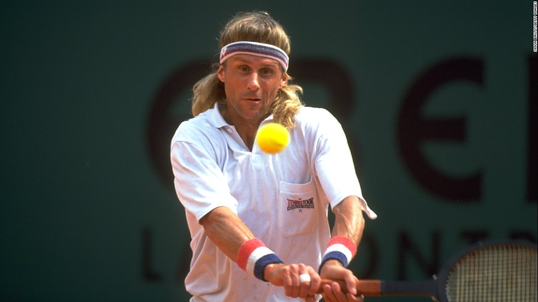 """In 1991 the """"Ice Man"""" made a comeback at the Monaco Open in Monte Carlo. When all the other players were using modern graphite rackets, the Swede turned up with an old wooden one and lost in straight sets to Spain's Jordi Arrese."""