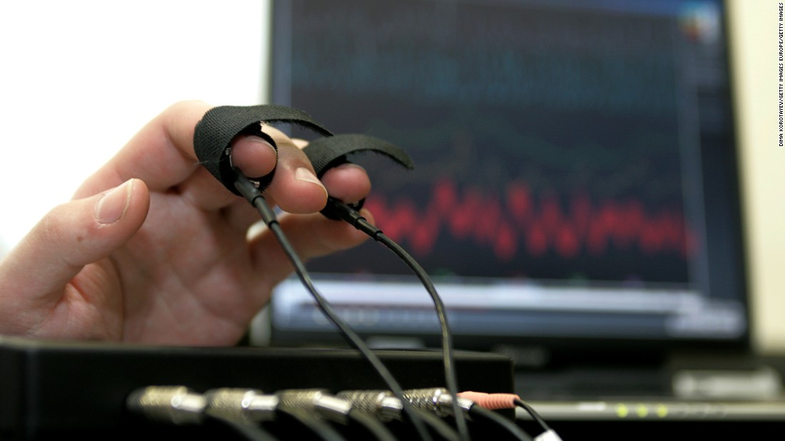 Vrij's research steers away from using traditional lie detectors because similar results can occur in people who are lying and those who are just anxious. The polygraph measures skin conductance, heart rate, respiration, blood pressure and finger temperature -- which all rise when under pressure, whether you're lying or not.<br />
