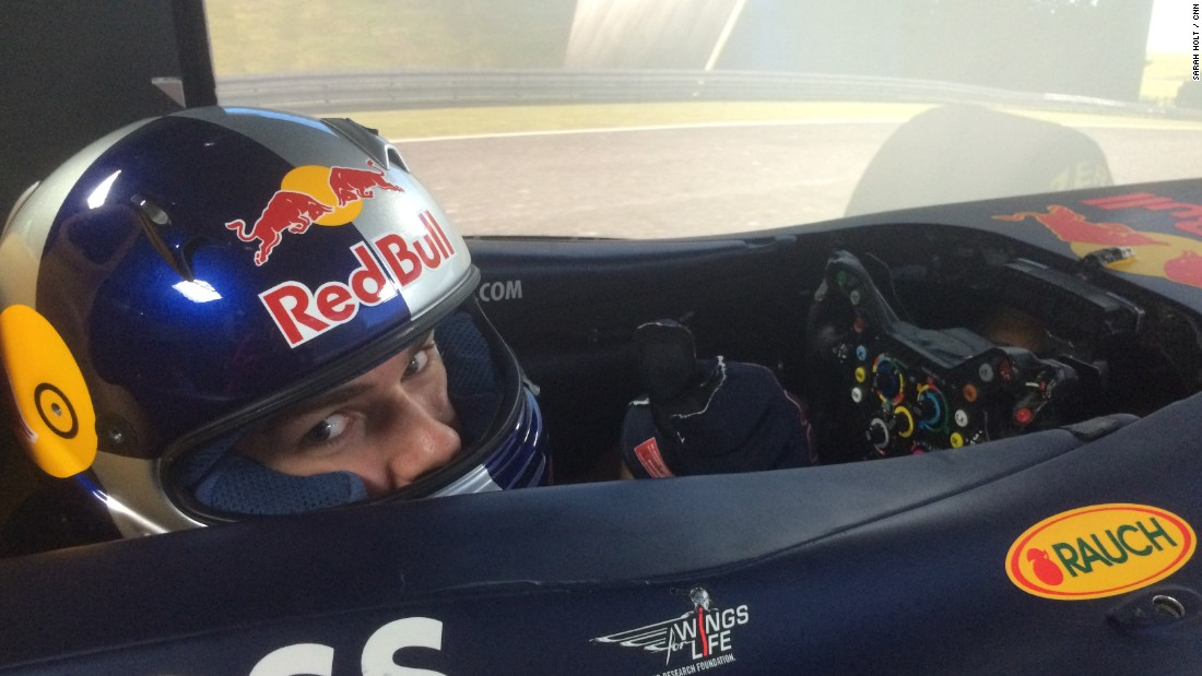 The Red Bull Racing driver simulator gets a thumbs up from French GP2 racer Pierre Gasly.