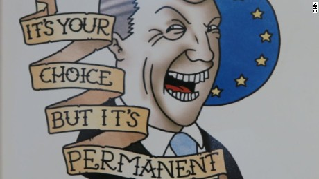 A tattoo design showing UK leader Nigel Farage