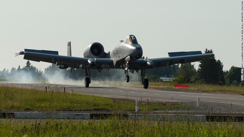 A-10s make rare highway landing near Russian border ...