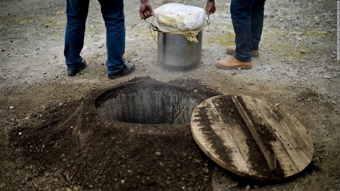 On Sao Miguel, among the islands that make up Portugal's Azores archipelago, residents boil food slowly with the volcanic heat in underground pits.