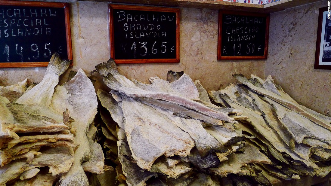 Dried and salted cod, or bacalhau in Portuguese, is one of the nation's most popular fish dishes.