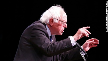 """Democratic Presidential Candidate Bernie Sanders speaks during a event """"Where We Go From Here"""" in New York on June 23 2016."""