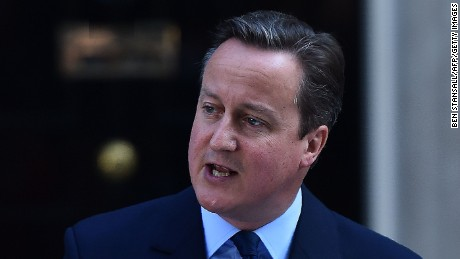 British Prime Minister David Cameron speaks to the press outside 10 Downing street in central London on June 24, 2016. Prime Minister David Cameron announced Friday he will resign after Britons voted to leave the EU in defiance of his warnings of economic pain.