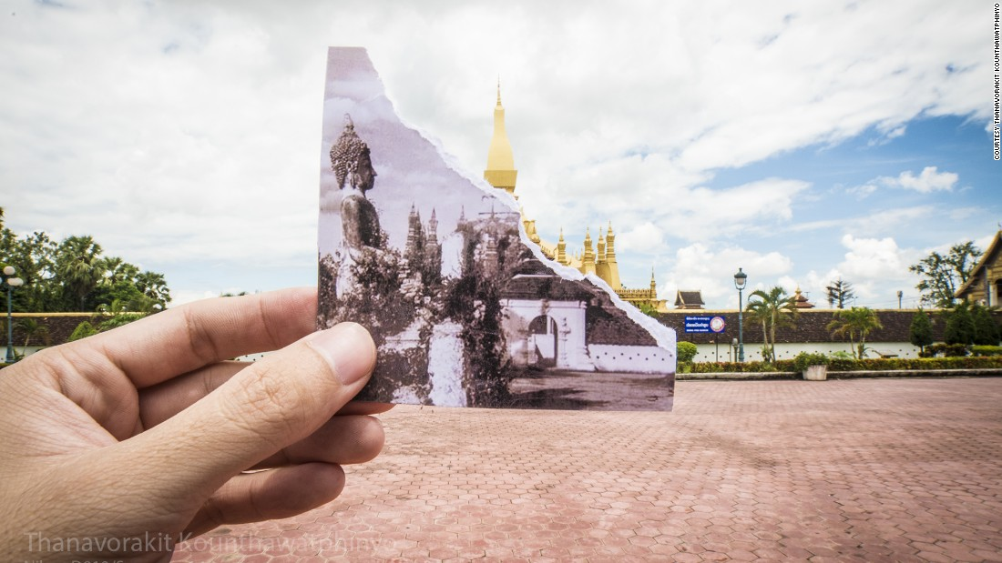 Laotian filmmaker and photographer Thanavorakit Kounthawatphinyo (known as Nin) has documented his country's capital Vientiane in a series of images showing the city past and present. Pictured, the That Luang Stupa.